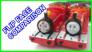 Trackmaster Flip face James comparison Thomas and friends