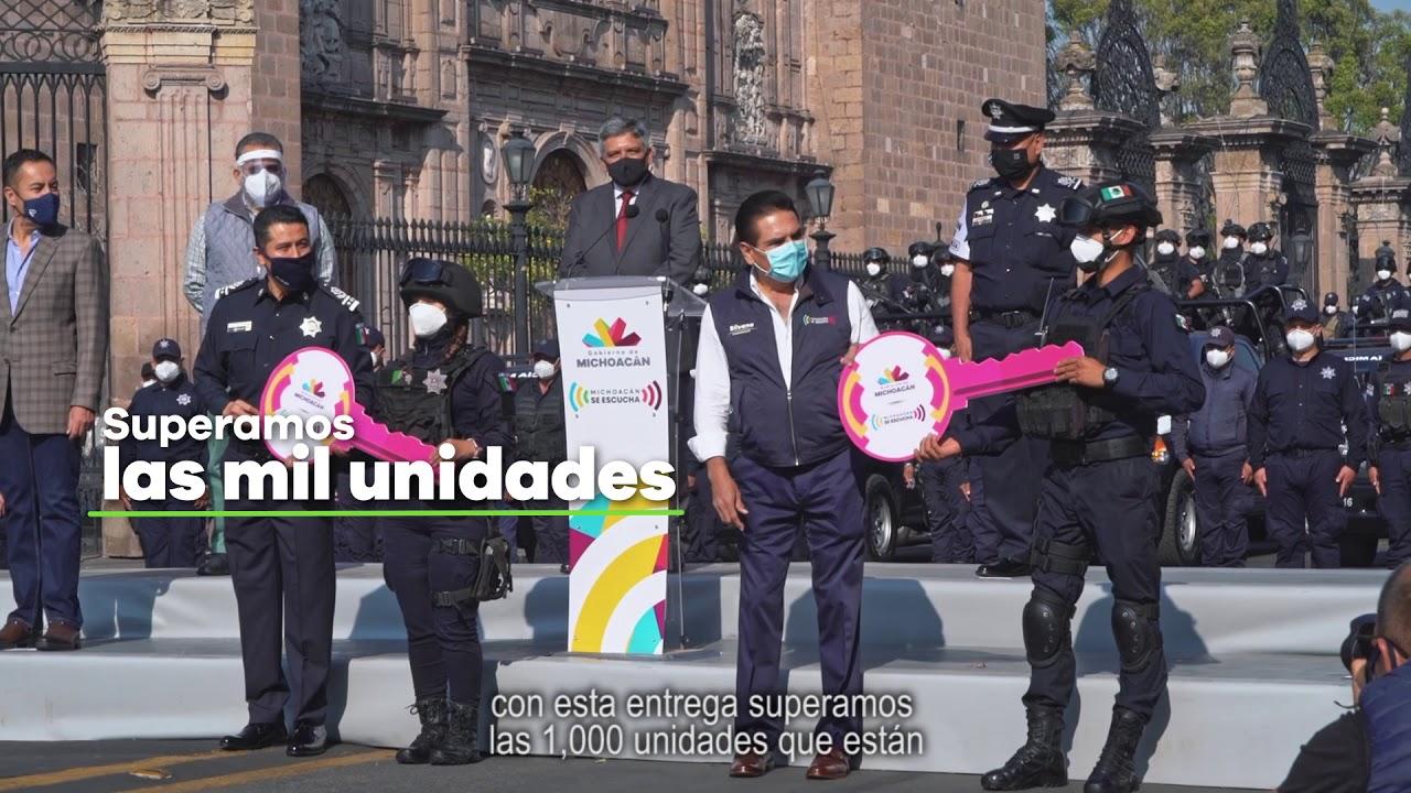 Entrega de patrullas a la Policía Michoacán - Gobierno de Michoacán