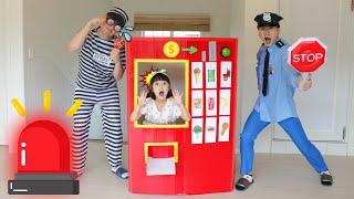 거대자판기 도둑이 나타났다!! 경찰놀이 자판기놀이 kids police giant vending machine toy story- 슈슈토이 Shushu ToysReview
