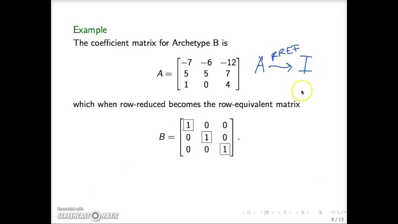 MATH 2010 Nonsingular Matrices part 2