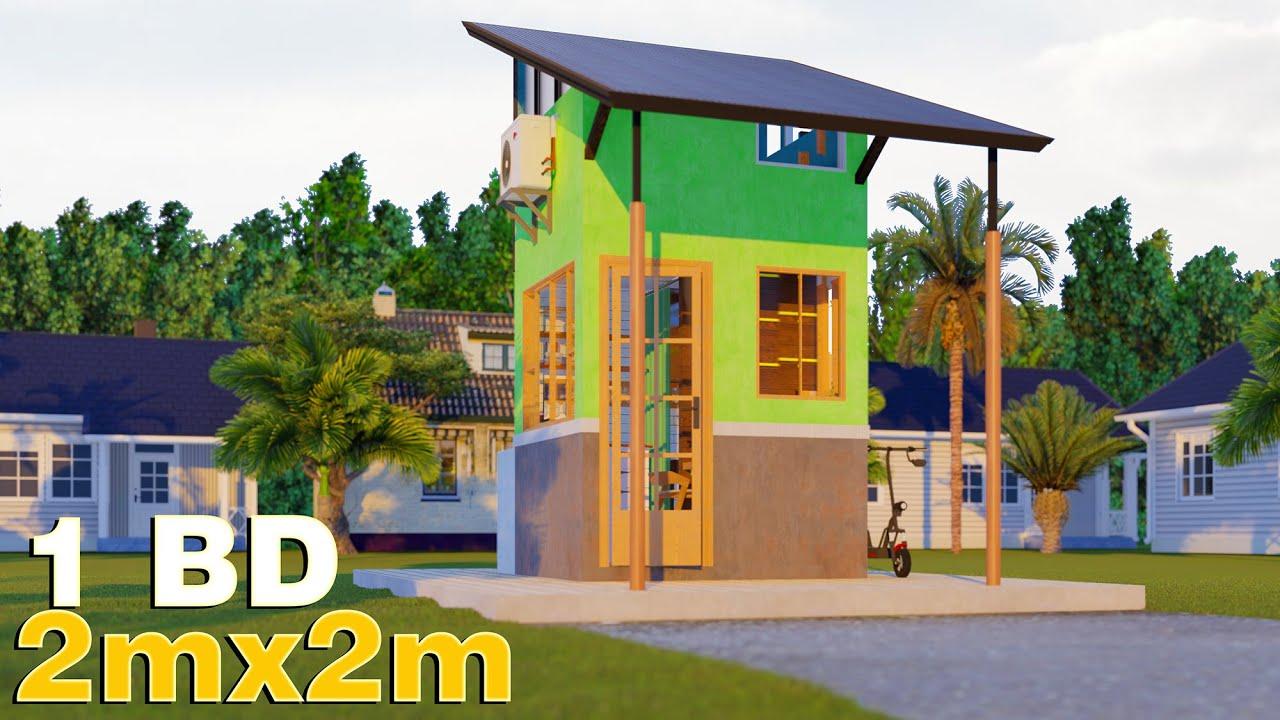 Small House Design (2x2 M) (6.5x6.5 F)