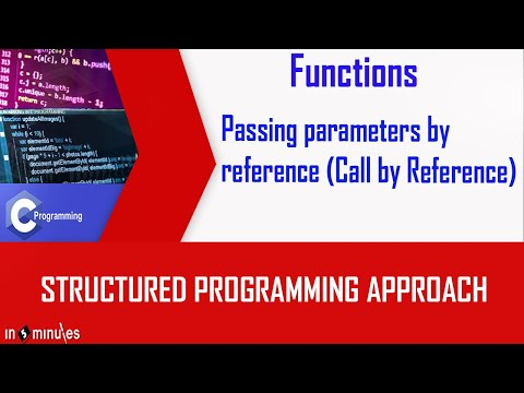 Passing parameters by reference  Call by Reference