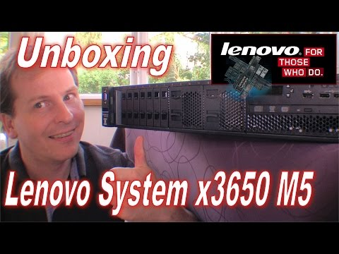 Unboxing a Lenovo System x3650 M5 Rack Server - 208