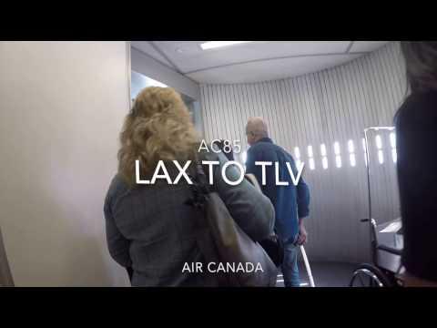 Air Canada flight AC85 TLV to YYZ
