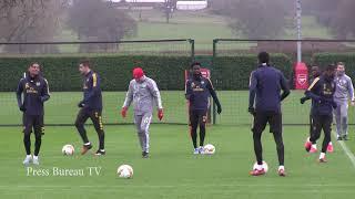 Arsenal Training pre Europa league vs Olympiacos