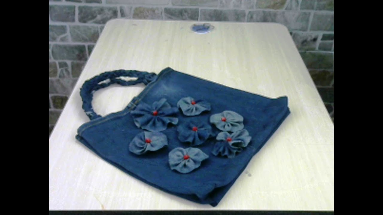 Eski kot pantolondan çanta nasıl yapılır ? How to make a bag from old jeans?