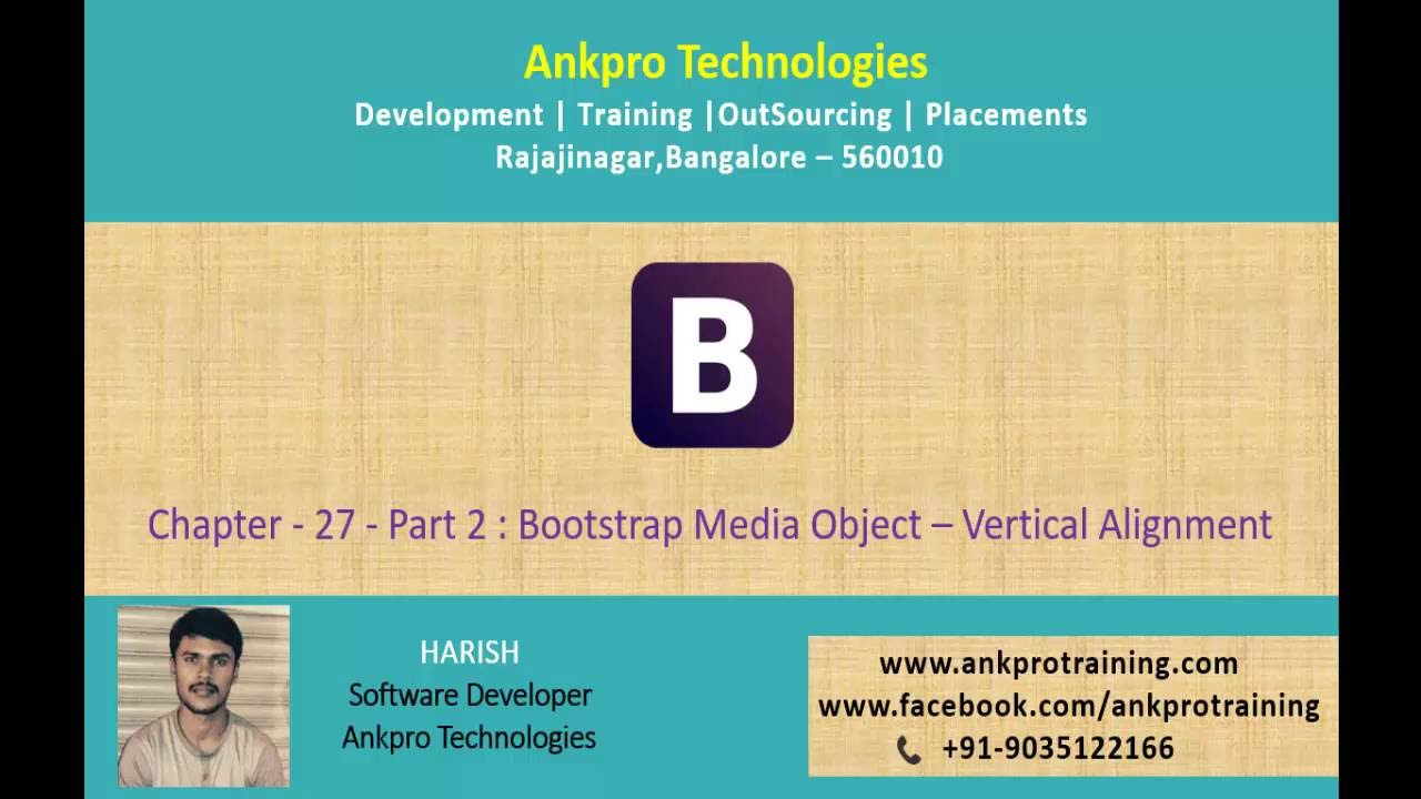 Bootstrap Chapter 27 - Bootstrap Media Object – Vertical Alignment part 2