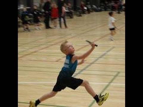 7 year old Kolding junior, playing Kolding senior - Denmark - Badminton