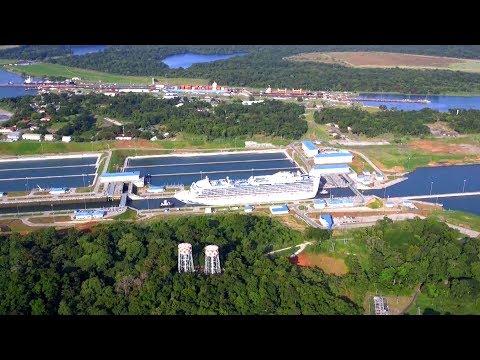 Caribbean Princess Traverses Panama Canal's New Locks