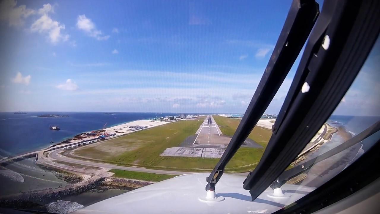 Aeroporto Male Maldive : Maldives landing king air er male airport vrmm youtube