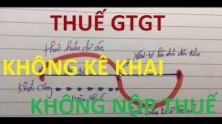 Các trường hợp không phải kê khai, tính nộp thuế GTGT