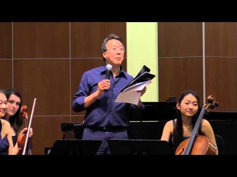 Yo Yo Ma master class: Gaspar Cassado Piano Trio (3) Trio Iris