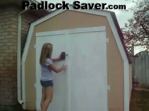 Lock Covers Opening Shed Door Youtube