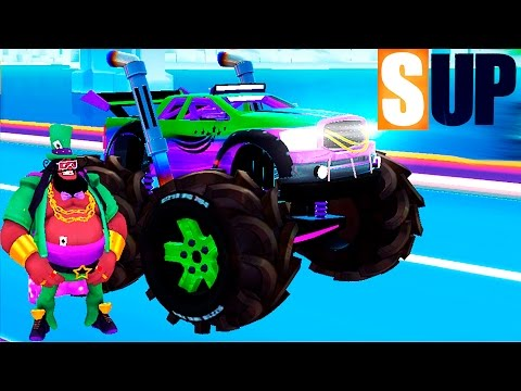 МАШИНКИ ОНЛАЙН ГОНКИ на крутых монстр тачках SUP Игра как мультик про машинки Видео для детей #5