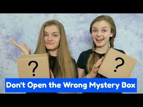 Don't Open the Wrong Mystery Box Challenge ~ Jacy and Kacy