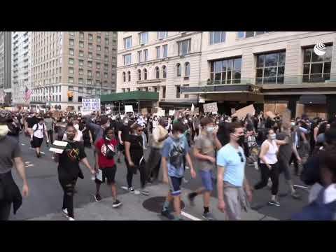Протесты в Нью-Йорке из-за смерти Джорджа Флойда