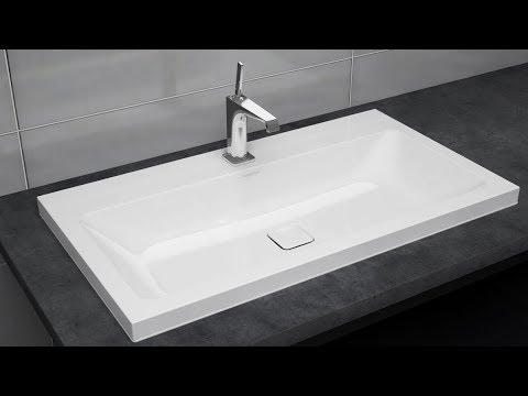 aufsatzwaschtisch montieren emerso cono centro und silenio kaldewei youtube. Black Bedroom Furniture Sets. Home Design Ideas