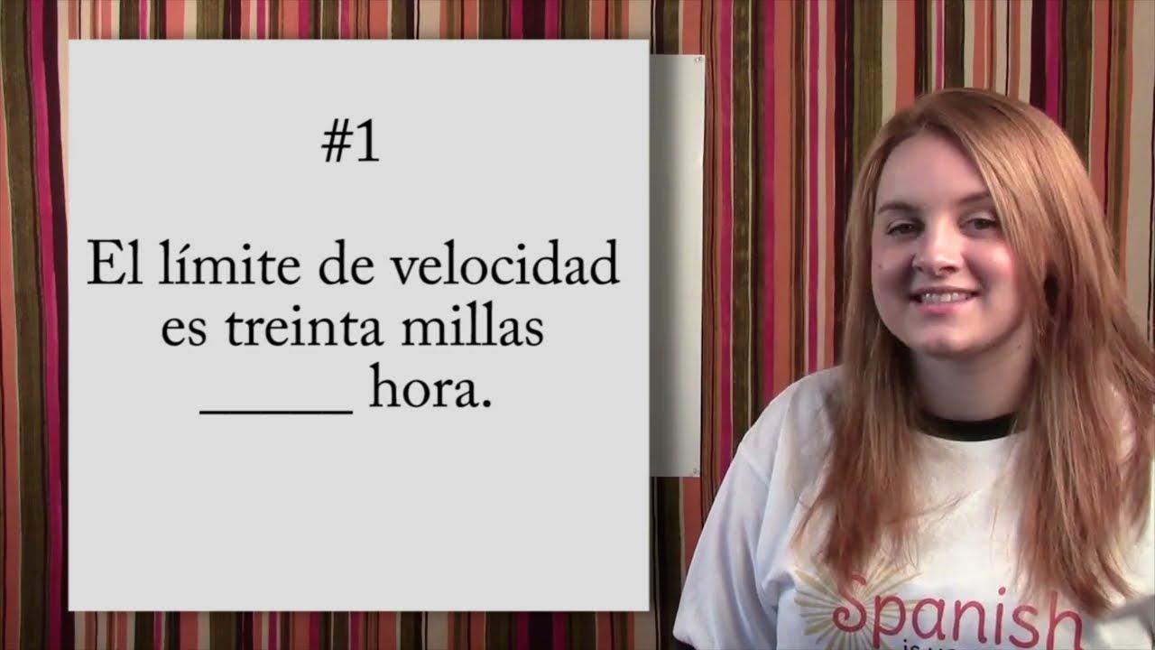 Learn Spanish Por Vs Para Quiz Youtube