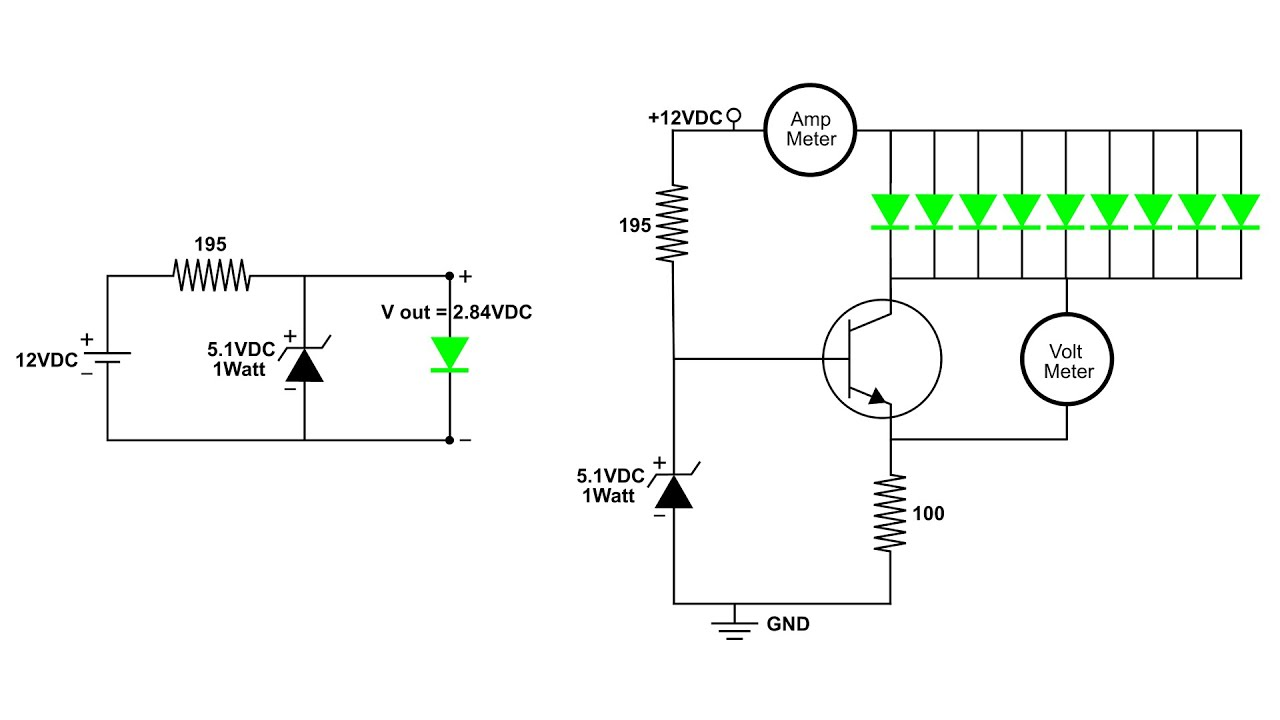 constant current circuit with a pnp transistor
