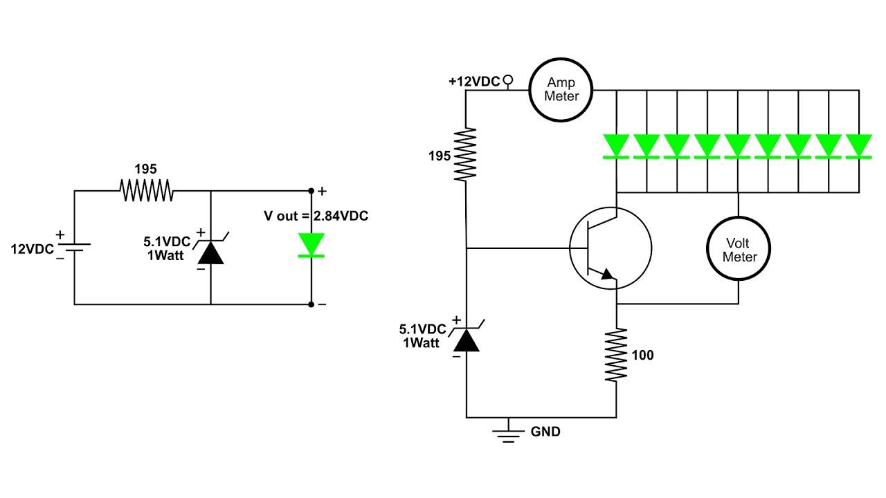 discrete transistor constant current source circuit [ 1280 x 720 Pixel ]