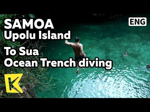 【K】Samoa Travel-Upolu Island[사모아 여행-우폴루섬]바다와 통하는 토수아의 다이빙 묘미/To Sua/Lotofoga/Pool/Diving