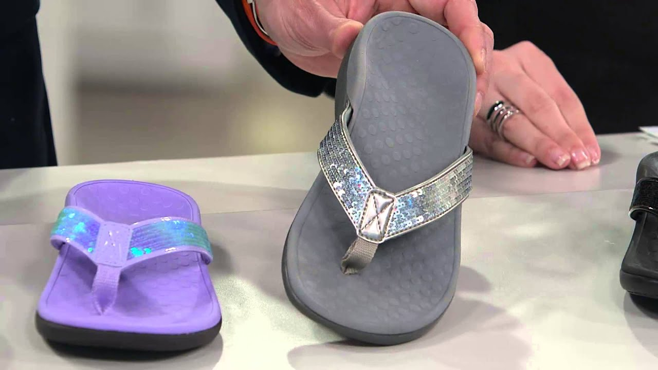 9e2e1538ceef Vionic w  Orthaheel Orthotic Thong Sandals - Tide Sequins with Amy Stran