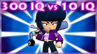 300 IQ VS 10 IQ Brawl Stars Moments #4 Featuring Bibi!