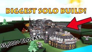 55.000 + (BUILD SOLISTA PIÙ GRANDE!!) | VETRINA | Costruire una barca per il tesoro (ROBLOX)