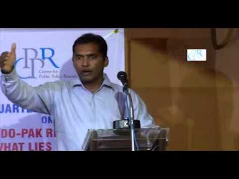 Dr. Happymon Jacob talks on 'Indo-Pak Relations: What lies ahead?' at the CPPR 5th Quarterly Lecture