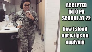 MILITARY PA SCHOOL AT 22?? | TIPS ON APPLYING (AIR FORCE IPAP)