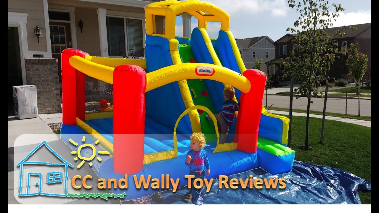 Little Tikes Inflatable Bounce House Kids Jump And Slide Bouncer