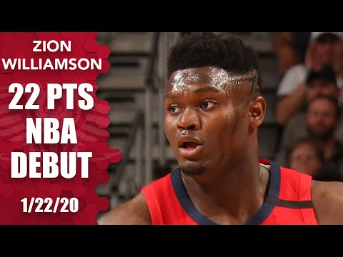 Zion Williamson scores 17 straight in electric 22-point Pelicans debut | 2019-20 NBA Highlights