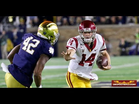 """Sam Darnold on Notre Dame: """"A little too much to handle:"""""""