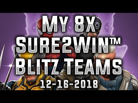 My 8x Sure2Win™ Teams (Day 2 of 12) - MARVEL Strike Force