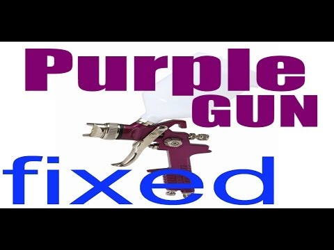 Harbor Freight HVLP Spray Gun Modification | CHEAPEST Purple HVLP
