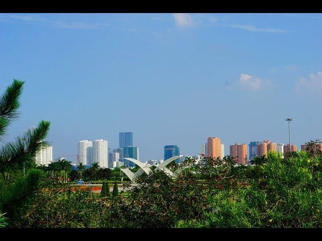 Hanoi Park Landscape - Một góc Hà Nội từ xa (Công viên Hòa Bình)