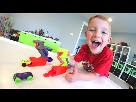 Father & Son GET NERF CAR SHOOTERS!  So Fast!