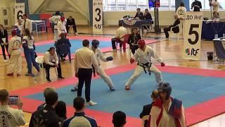 Таеквондо МФТ Кубок России 2017 спарринг часть11 раунд 2 Taekwondo ITF sparring