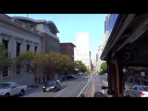 San Francisco, California - Cable Car - California Line - Eastbound HD (2014)