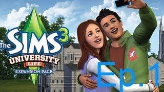 The Sims 3 University Life (Vida Universitária) Gameplay: Roupas e Explicação Rápida Ep.1