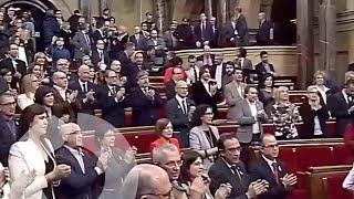 """""""Els Segadors"""" y gritos de """"Libertad"""" en la sesión de inicio de la XII legislatura en Catalunya"""