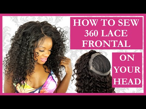 360 Lace Frontal Install Tutorial Sew In Weave l NO GLUE l NO HAIR OUT