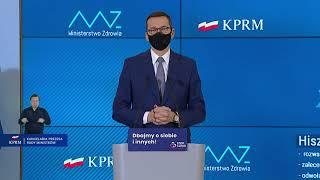 Konferencja premiera Mateusza Morawieckiego i ministrów Adama Niedzielskiego i Michała Dworczyka