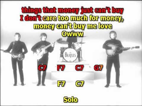 Can`t Buy Me Love Beatles Best Karaoke Instrumental Lyrics Chords Cover