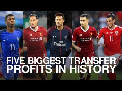 Five Biggest Transfer Profits In History