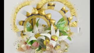 Обручальные кольца из конфет. Декор на свадьбу.