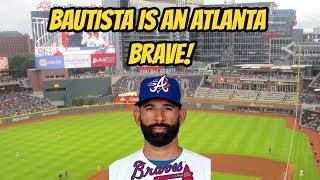 Jose Bautista signs with the Atlanta Braves!   Auddie James
