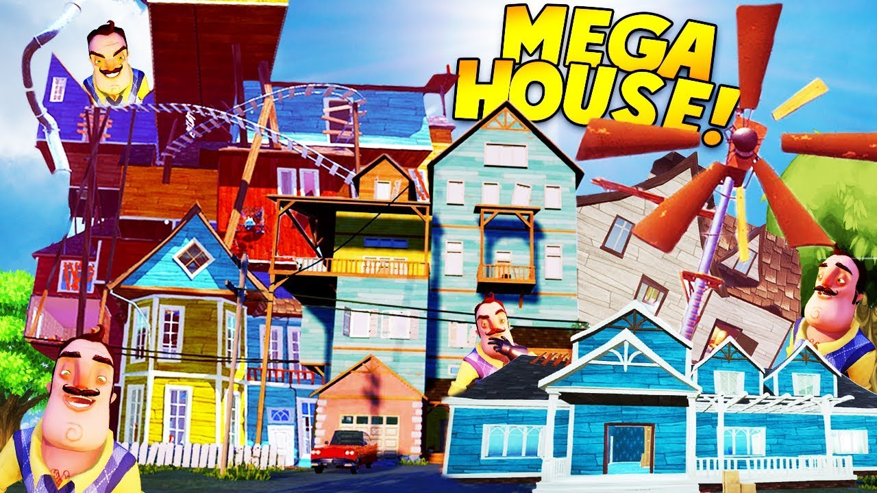 All Of The Neighbor S Houses Combined Into One Hello Neighbor Beta 3 Mod Gameplay Youtube