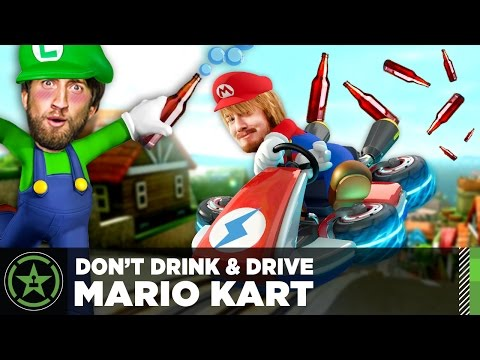 Let's Play - Drunk Mario Kart with ScrewAttack