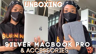 SILVER MacBook Pro 2020 Unboxing & Accessory must haves!